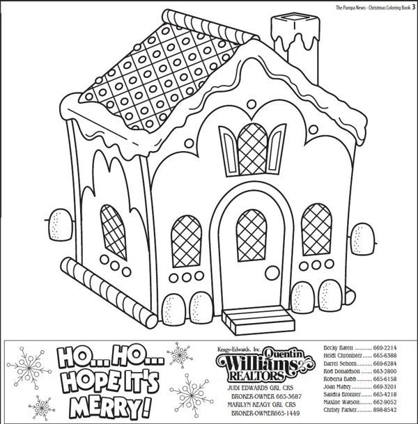 Christmas Coloring Book The Pampa News By Holley Bimson Via Behance Christmas Coloring Books House Colouring Pages Christmas Coloring Pages