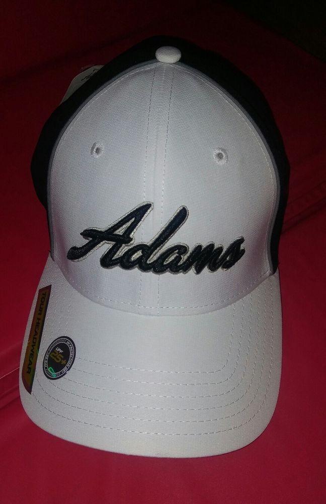 NEW Adams golf TOUR HEADWEAR Black White Golf Hat - SMALL MEDIUM S M  adams   BaseballCap fac26972172