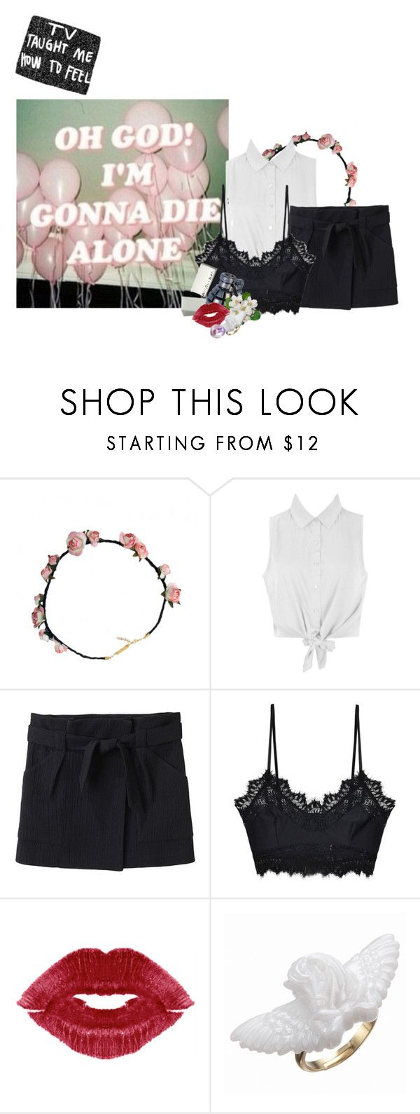 """""""Untitled #894"""" by jaykitten123 ❤ liked on Polyvore featuring Vanessa Bruno Athé, For Love & Lemons and Antica Murrina"""
