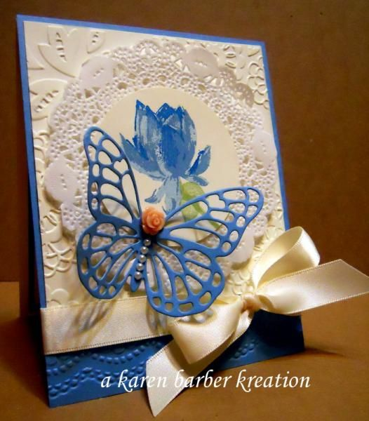 CC514 - HUES OF BLUES by Karen B Barber - Cards and Paper Crafts at Splitcoaststampers