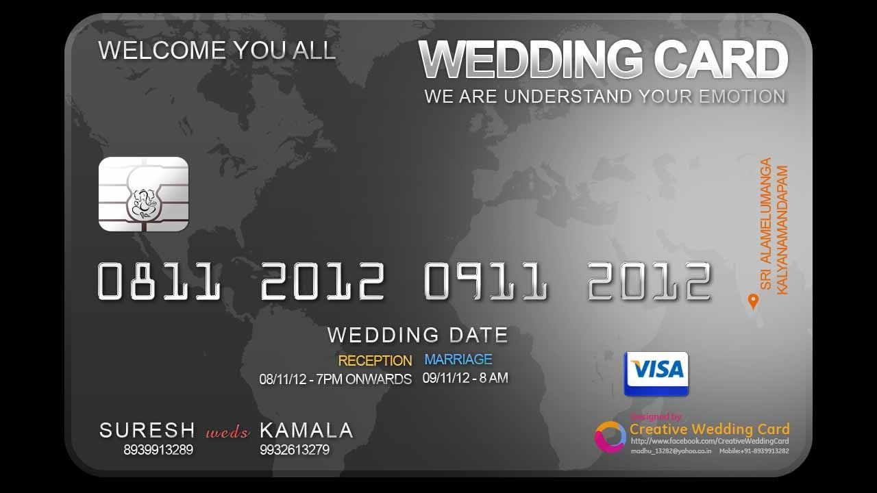 Credit card wedding invite haha! Lot of room for creativity here