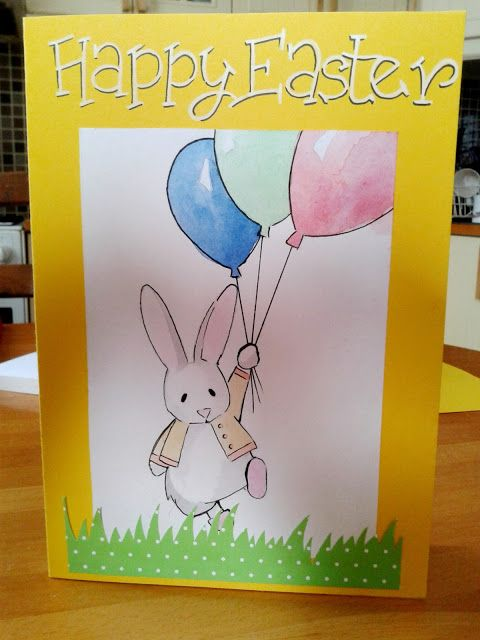 Happy Easter Card Tutorial Happy Easter Card Easter Cards Card