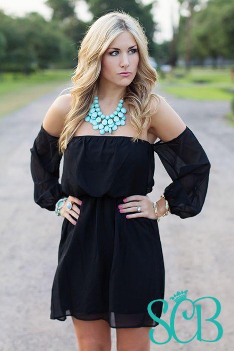 c68fb622a606 Off The Shoulder Dress - Black