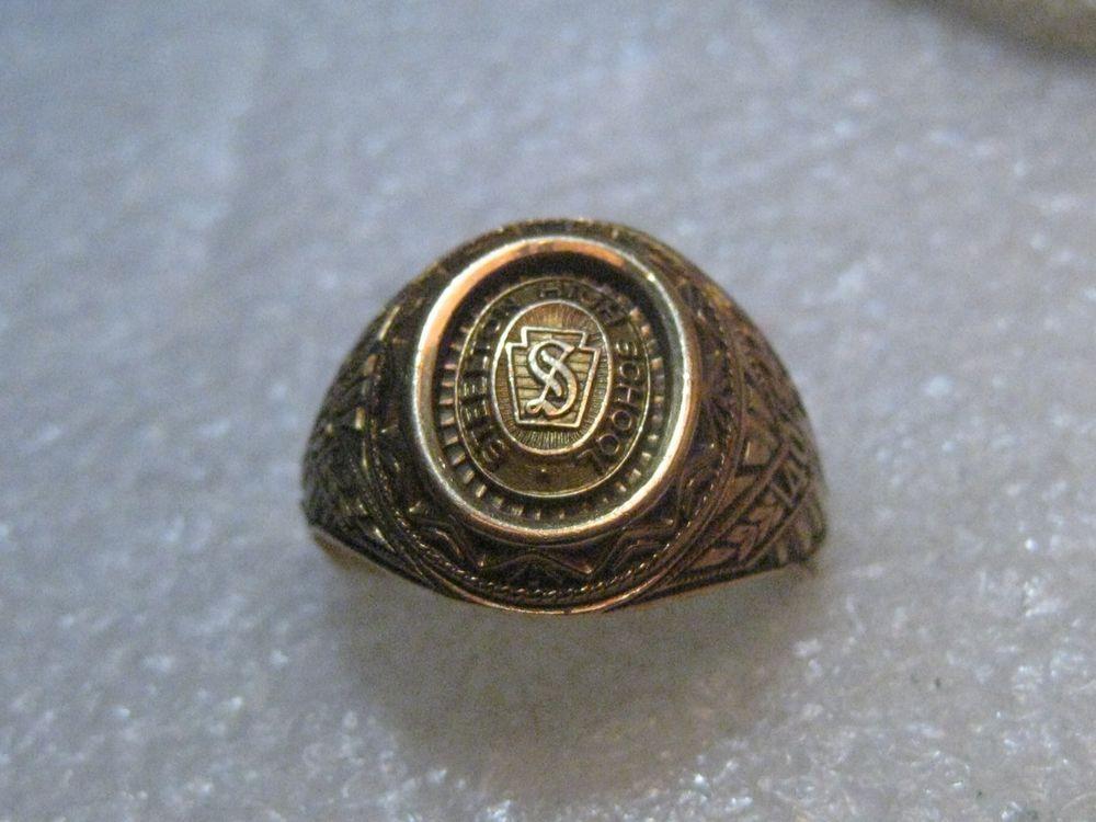 10kt Steelton High School Ring, 1940, sz. 11, 9.14 gr. Balfour #Baqlfour #classring
