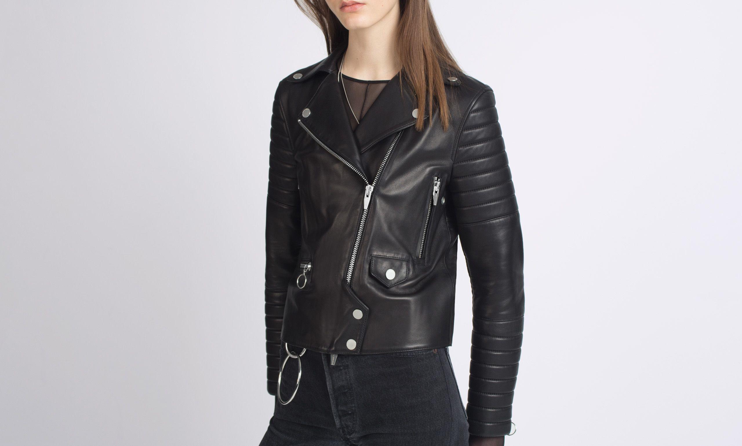 Rainier Zero Leather Moto Jacket The Arrivals Fashion Outerwear Leather Moto Jacket [ 1539 x 2560 Pixel ]
