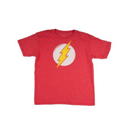 6188a6459 The Flash Boys' Classic Lighting Bolt Logo Red Short Sleeve Graphic Tee