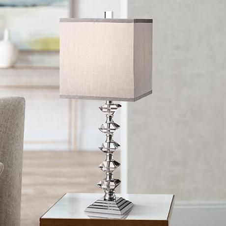 Deco Collection Colonnade Crystal Table Lamp Y4757 Lamps Plus Crystal Table Lamps Small Lamp Shades Art Deco Table Lamps
