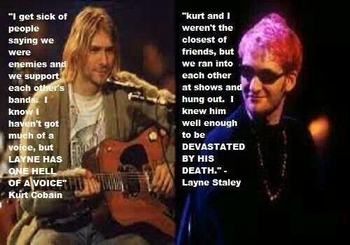 Kurt Nirvana Layne Alice In Chains Con Imagenes Layne