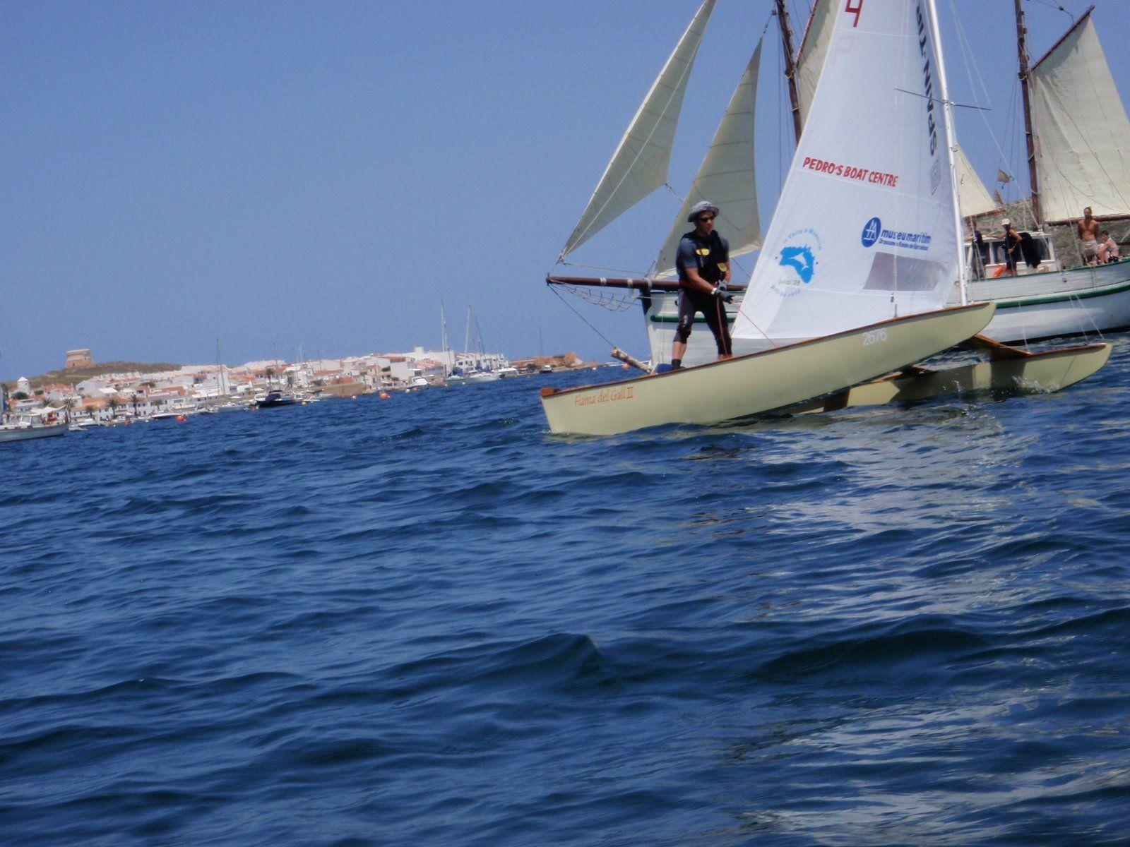 Patin a vela Volta a Menorca 2008