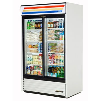 Costco True® Sliding Glass Door Refrigerator Glass door