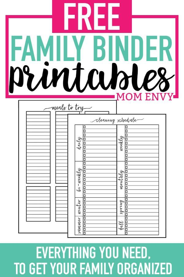 Crazy image with free printable home organizer notebook