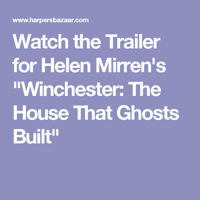 Helen Mirren's New Horror Movie Is Based On A True Story