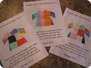 Joseph S Coat Of Many Colors Confessions Of A Homeschooler Joseph Coat Of Many Colors Activity