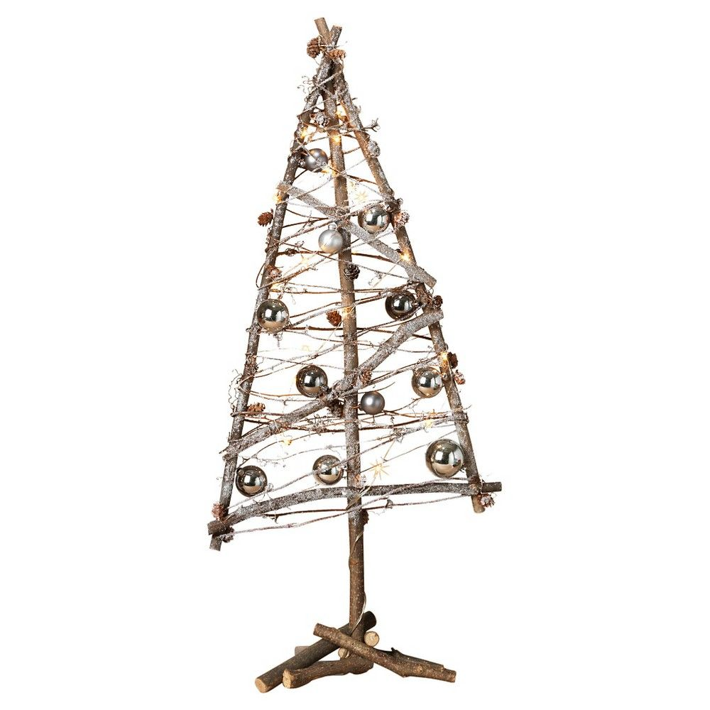 trees battery operated and brown