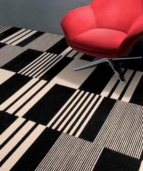 Striped Carpet Tiles Handmade Tiles Can Be Colour