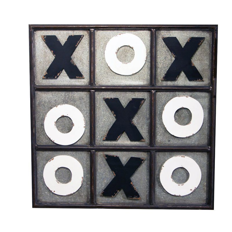 Tic Tac Toe Wall Du00e9cor By American Mercantile Decor Holz
