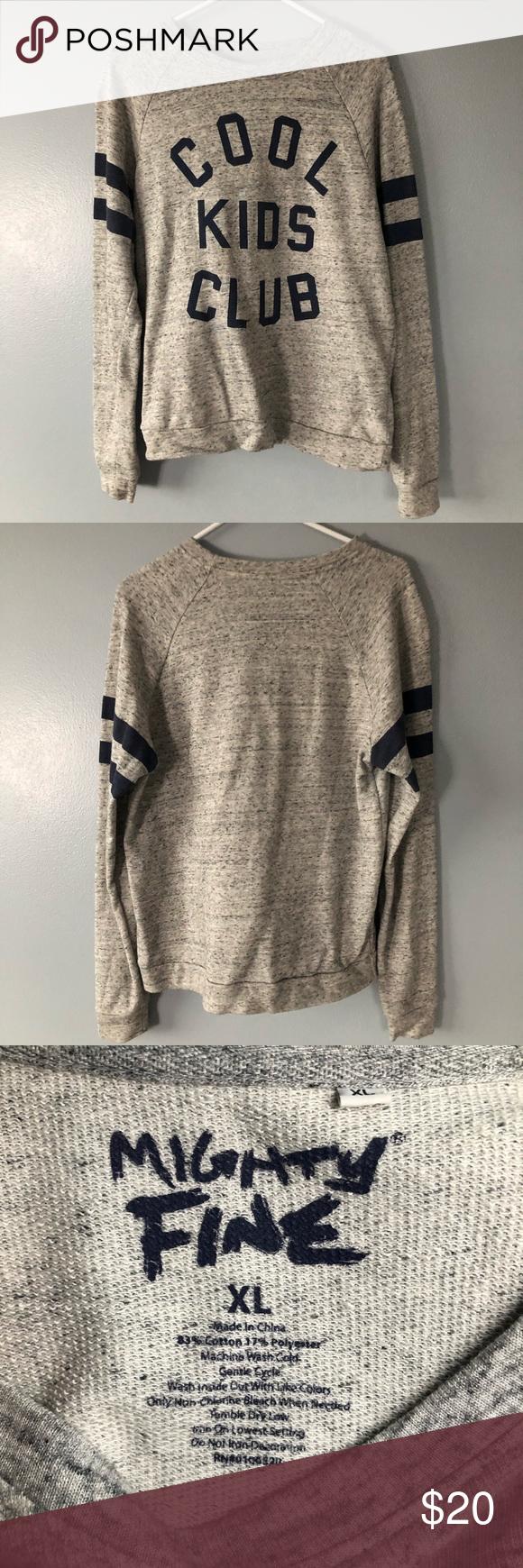 Mighty Fine Gray Crewneck Sweatshirt Mighty Fine Gray Crew Neck With Blue Details Size Xl Fits Like Large Grey Crewneck Crew Neck Sweatshirt Sweatshirts [ 1740 x 580 Pixel ]