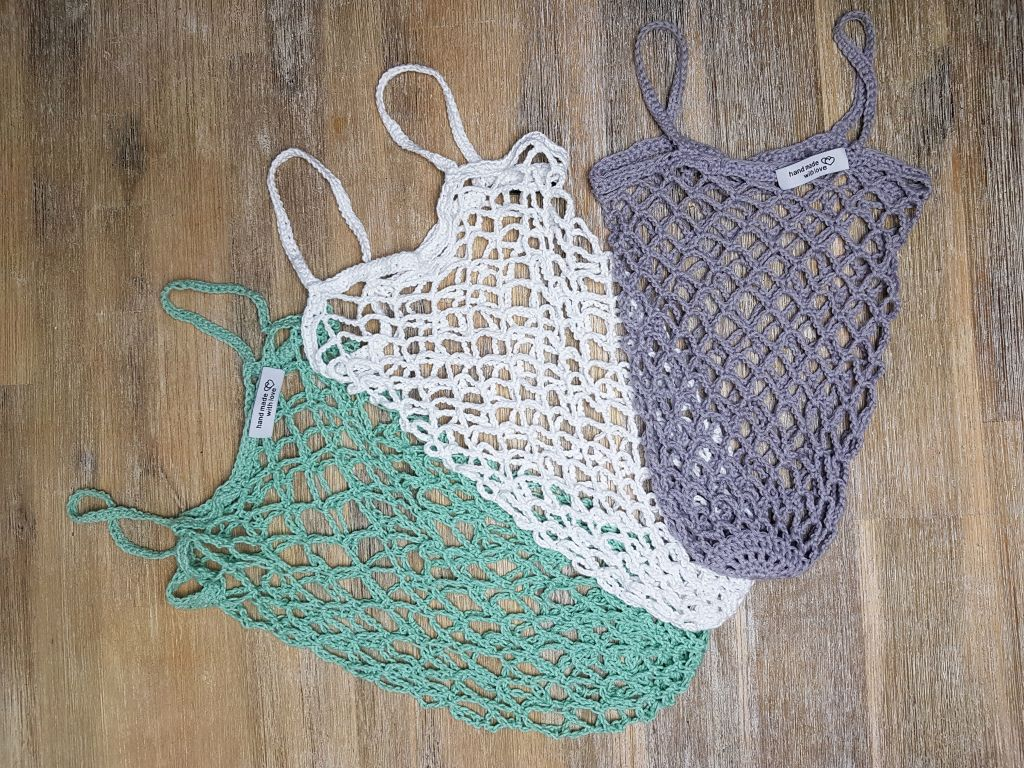 Photo of Crochet shopping nets – pink only