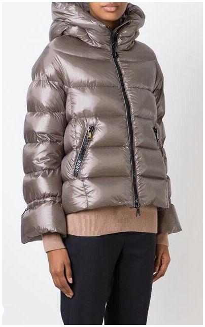 Doudoune Femme Moncler Badete veste courte hiver capuche gris   Oh ... 356103646c8