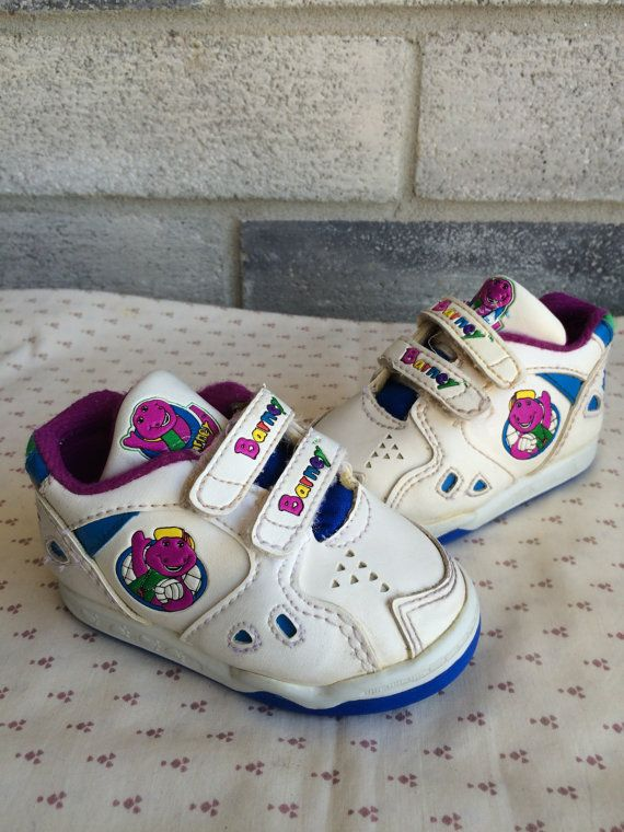 Barney shoes Barney dinosaur baby shoes Barney and by LauraTrev1