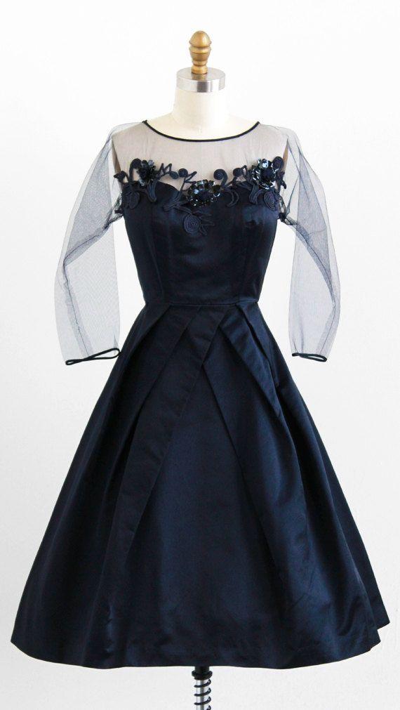 Vintage silk evening dress
