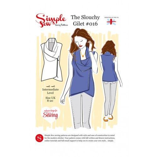 Free slouch gilet pattern with Love Sewing issue 18   FREE sewing ...