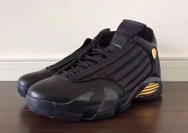 huge discount c0713 55999 DMP Air Jordan 14 Black Gold Red 487471-022