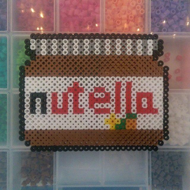 Nutella Jar Perler Beads By Vvatervapor Strijkkralen Knutselen