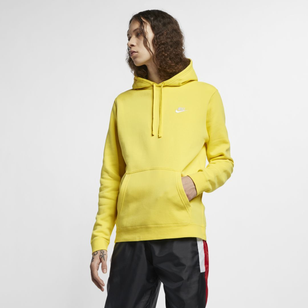 nike fleece yellow