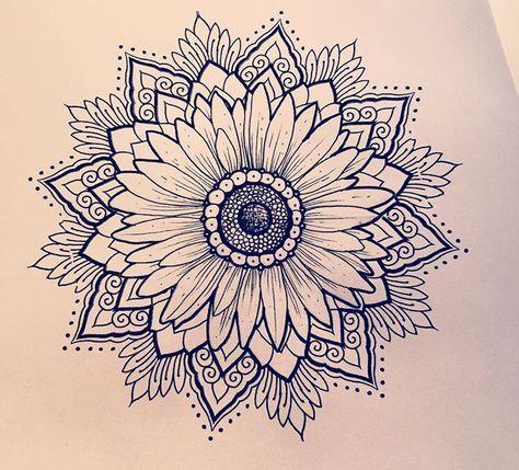 27 Ideas Tattoo Sunflower Mandala Thighs