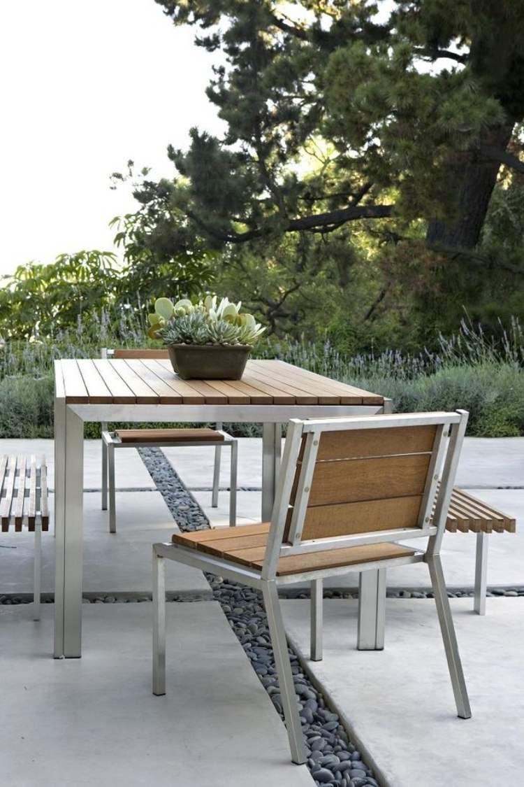 gro formatige trittplatten aus beton und kies dazwischen landschaftsbau pinterest garten. Black Bedroom Furniture Sets. Home Design Ideas