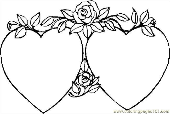 Free Valentine Pictures To Color Coloring Pages Hearts 40