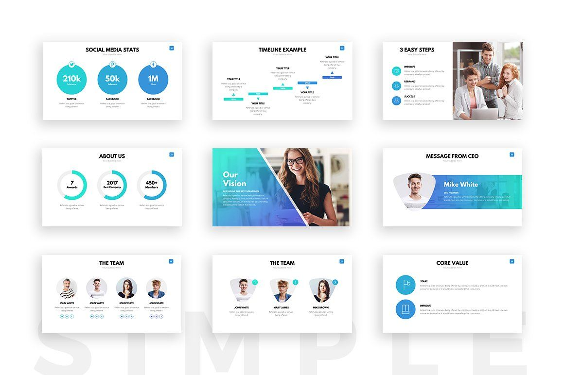 Looking For A Clean Powerpoint Template Boost Your Sales And Present Your Project Like Simple Powerpoint Templates Presentation Templates Powerpoint Templates