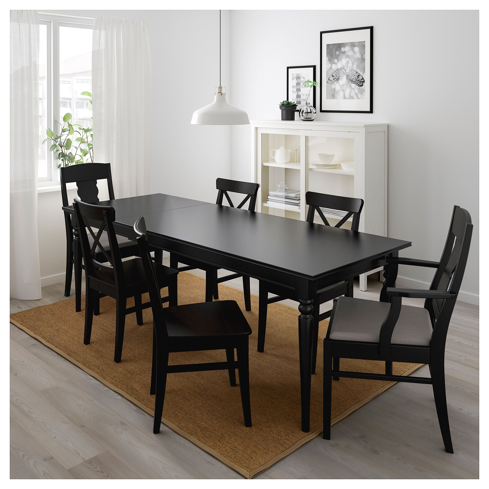 Ingatorp Extendable Table Black Find It Here Ikea Outdoor Dining Chair Cushions Dining Chair Cushions Small Living Room Chairs