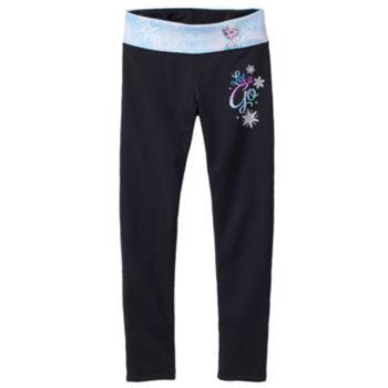 bbaf2e1437f8b Disney Frozen Elsa Fleece-Lined Yoga Leggings by Jumping Beans - Girls 4-7