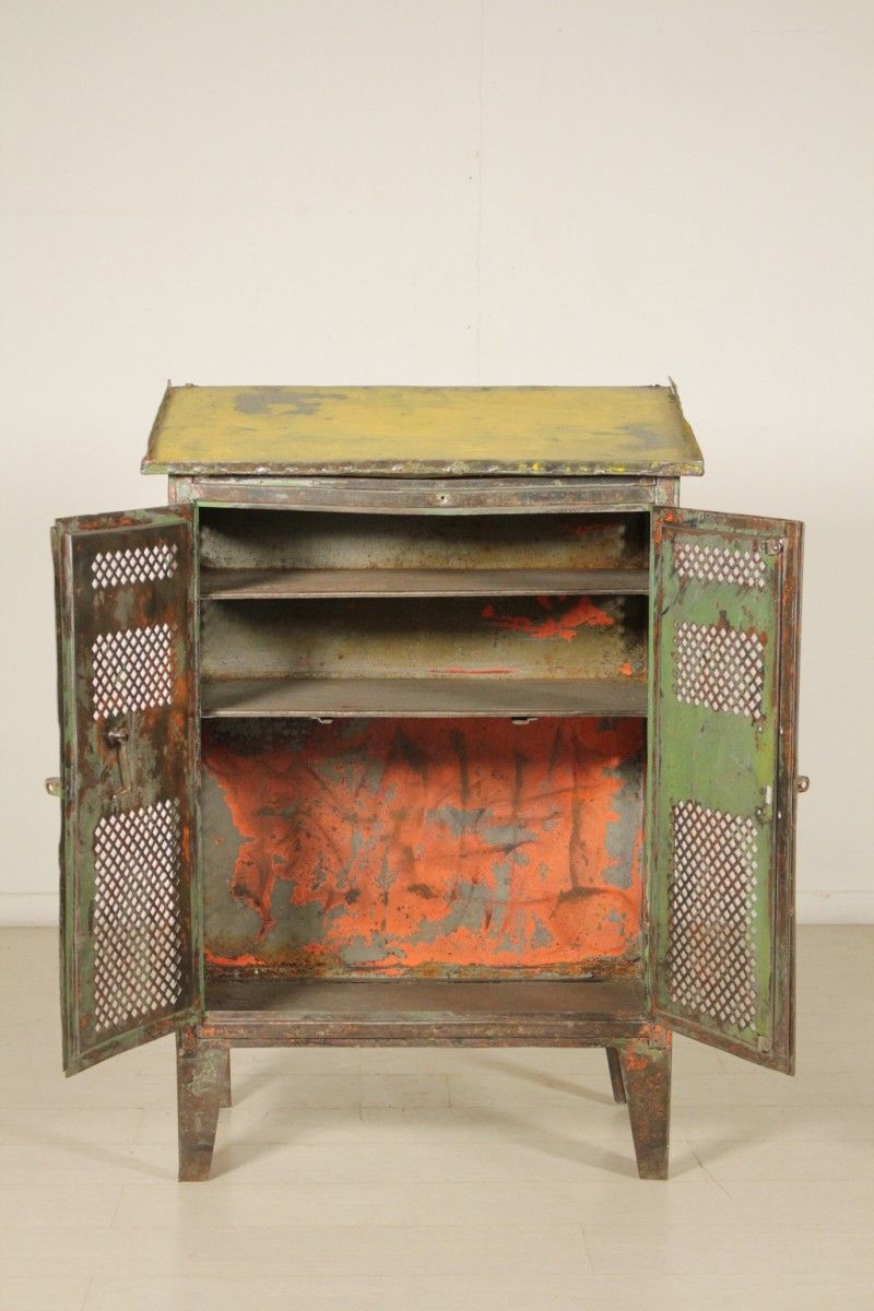 Metal Cabinet with Desk Top by Industrial Vintage Milan ...