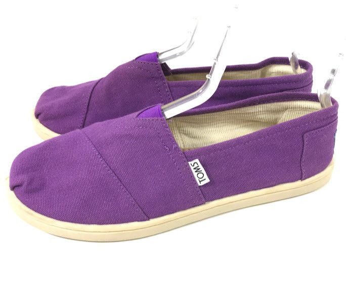 4810b33af52 Toms Womens Classic Loafer Flats Purple Canvas Size Youth 6 Slip On  Moccasins 6Y  Toms  Flats  Casual