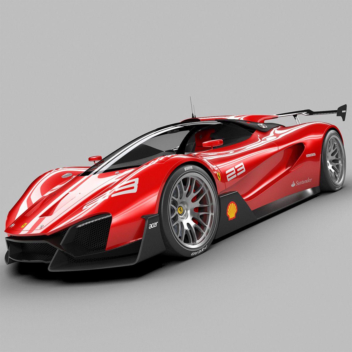 3d Ferrari Xezri Concept 3d Model Super Cars Ferrari Ferrari 2017