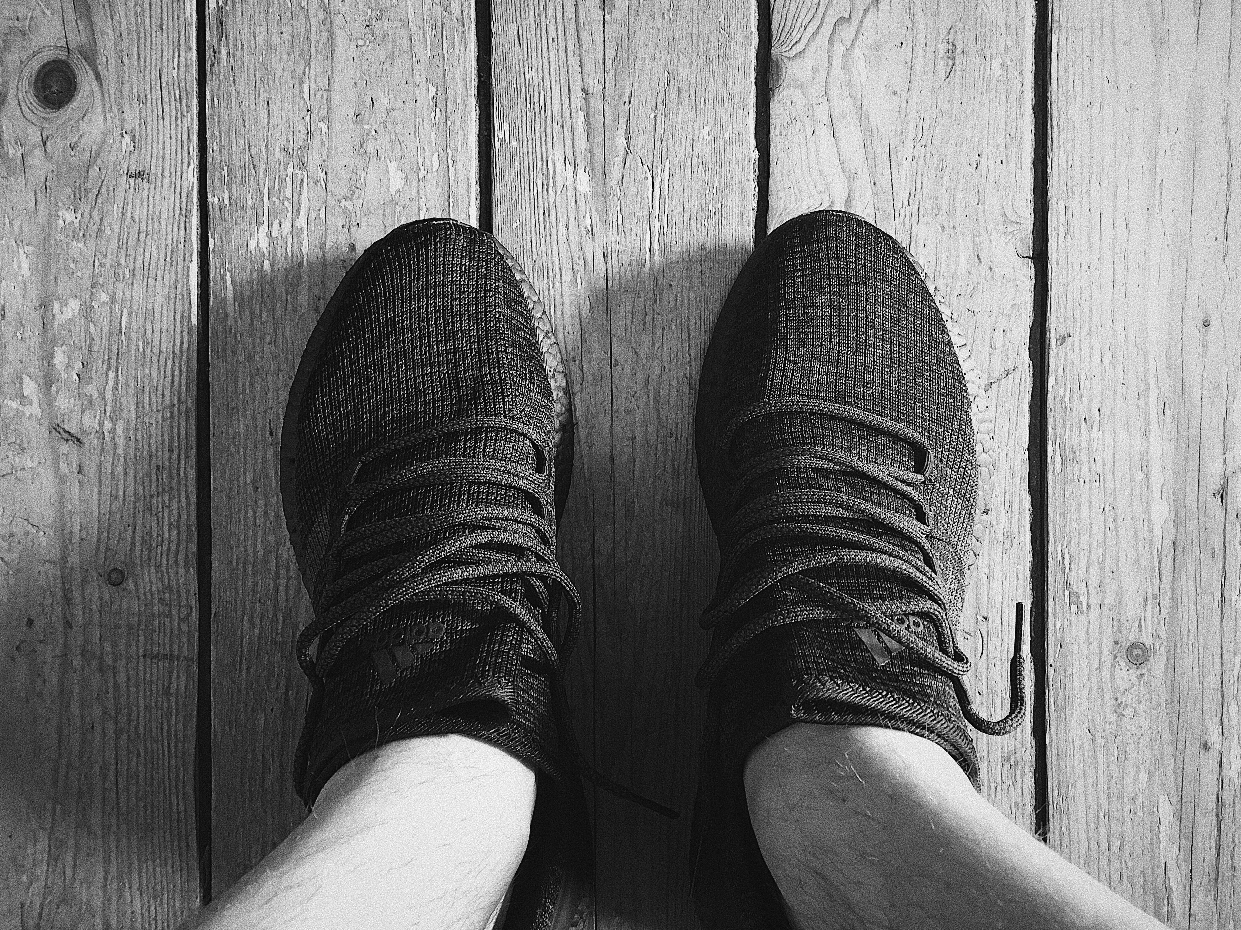 the best attitude 8d0e8 d5897 Adidas Pure Boost LTD 2017 Triple Black on feet above