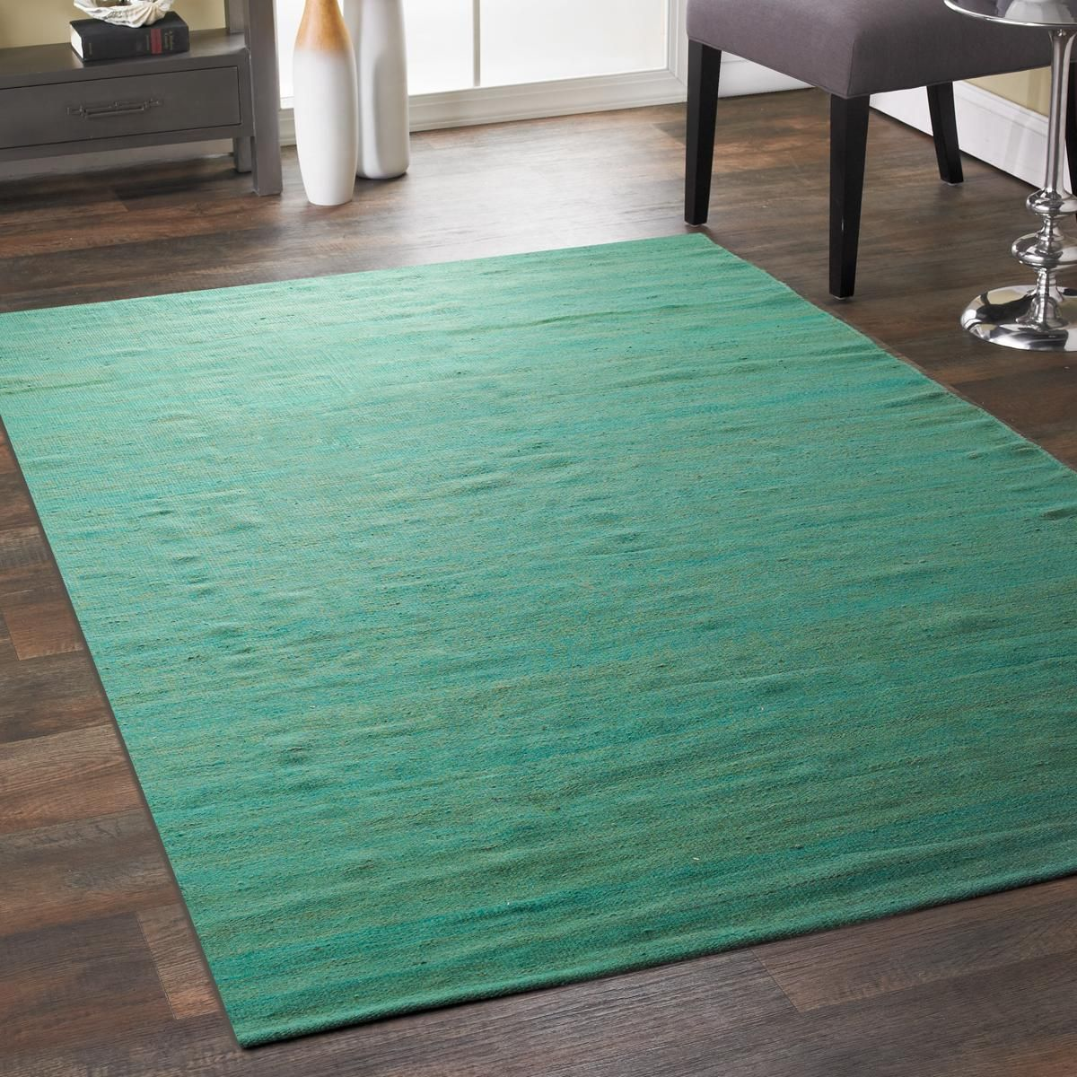 Striated Color Jute Flatweave Rugs Creating A Fashionable