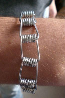 super qualité détails pour choisir authentique Pince à linge (pince à linge) métal lien bracelet / poignet ...