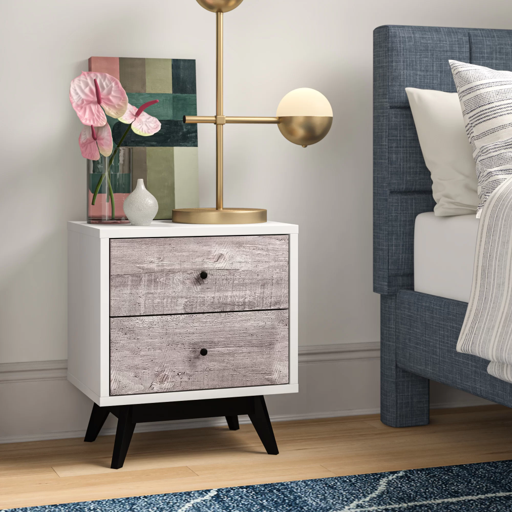 Cliodhna 2 Drawer Nightstand In Gray Black In 2021 Nightstand Furniture Drawer Nightstand [ 1000 x 1000 Pixel ]