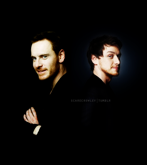 Fassbender and McAvoy/Eric and Charles/Magneto and ...