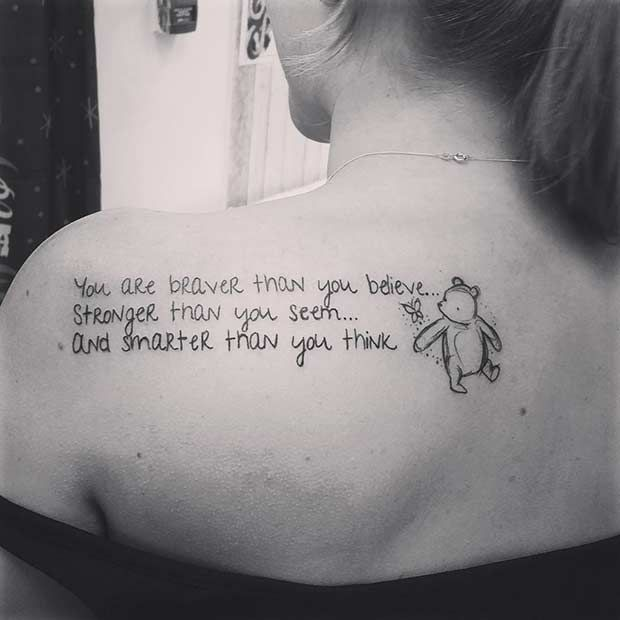 cute disney tattoos that are beyond perfect inspiring quote