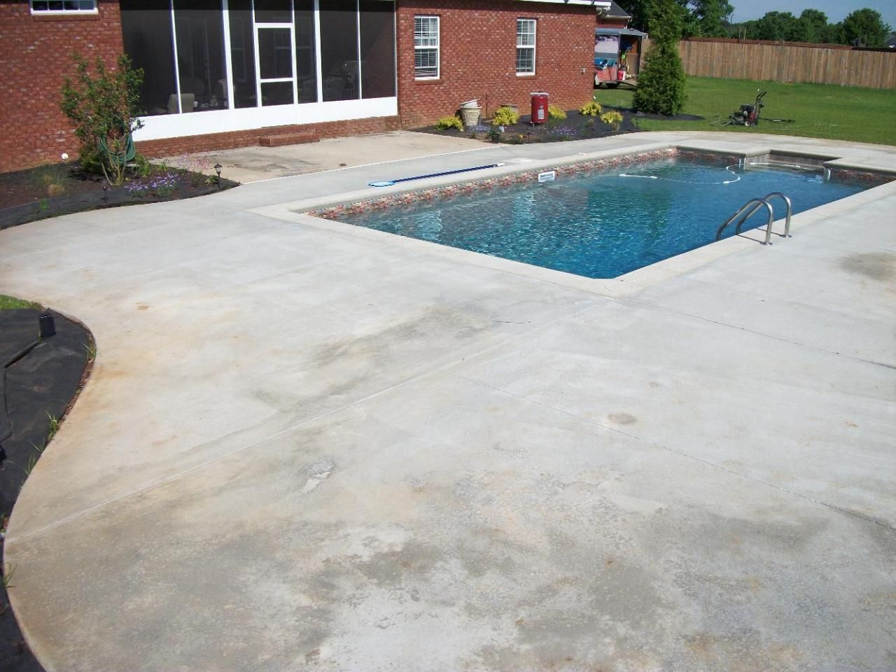 Stained Concrete   Sand Color | Outdoors Design | Pinterest | Stained  Concrete, Concrete And Backyard