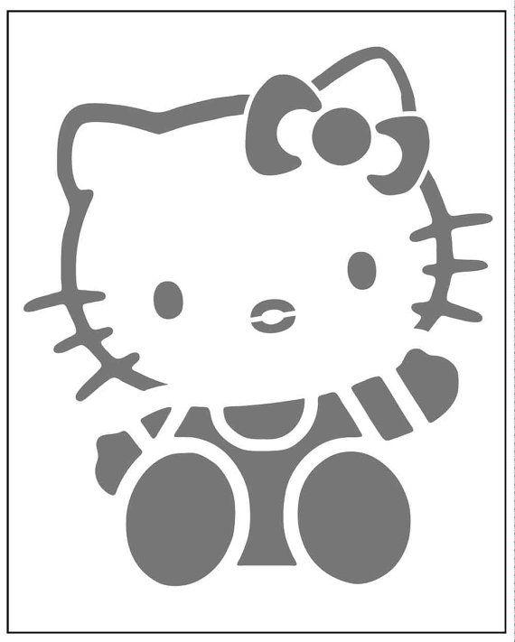 Hello Kitty on laser cut stencil by PearlDesignStudio on Etsy ...