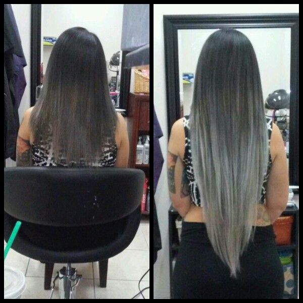 Grey hair extensions from black to slate to pale gray with hints grey hair extensions from black to slate to pale gray with hints of blue pmusecretfo Image collections