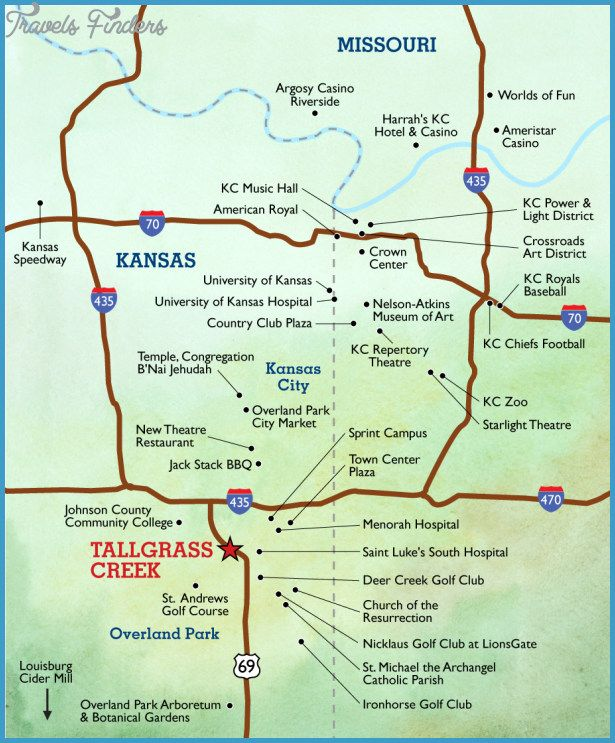 Kansas City Map Tourist Attractions httptravelsfinderscom
