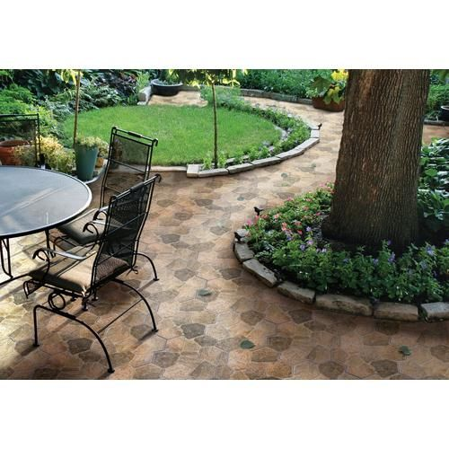 Via Appia Brown Porcelain Tile Small yard landscaping