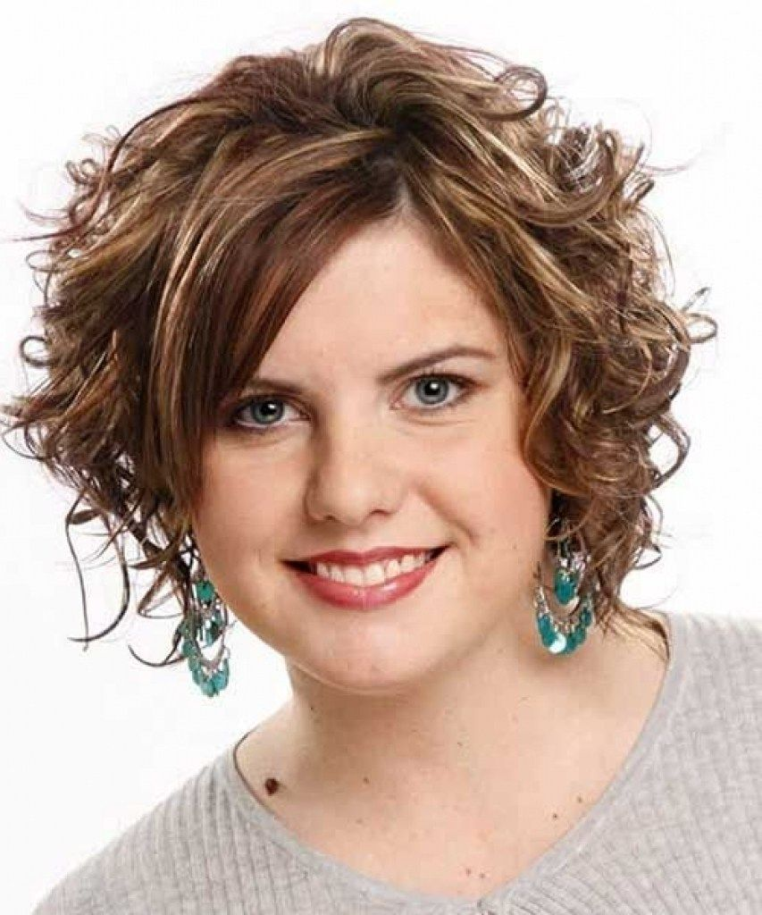 Short Curly Hairstyles For Round Faces Short Curly Hairstyle For Round Face  Cerca Con Google  Tengo Cara